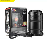 Wholesale new LED solar charging camping lantern lamp outdoor camping emergency super portable retractable lantern