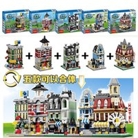 best shops - Mini Scene City Series Flower Shop Service Centre set Minifigure Building Block Set Toys With Decool Best Christmas Gift
