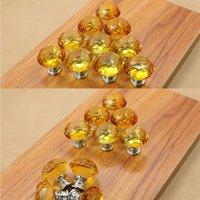 beautiful door knobs - Hot sale beautiful and elegant yellow diamond furniture cupboard door handles and knobs mm diameter