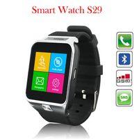 Wholesale S29 Smart Watch Wireless Bluetooth Smartwatch Wristwatch Watch Phone with M Camera Pedometer Sleep Monitor TF G Anti Lost Sedentary