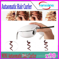 Wholesale 30pcs New Arrival Mini Automatic Hair curler Hair Styling Tools Roller Hair Curl Curling Machine LCD Screen Digital Display YX MN JFQ