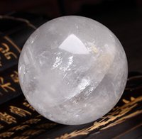 Wholesale HOT mm Stand NATURAL CLEAR QUARTZ CRYSTAL SPHERE BALL HEALING GEMSTONE
