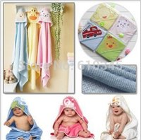 Wholesale carter s cotton double layer baby Bath Towel Bathrobe Infants Hooded Blanket Baby Kids swaddling