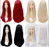 Wholesale New Fashion Straight Universal Wig Cartoon Characters Stylish Anime Cosplay Full Wigs without bangs For Lady Party