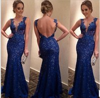 attractive woman dress - Lace V neck Women Dress Fashion Backless Floor Length Attractive Prom dress High grade Bodycon Cocktail Party Dress J0056