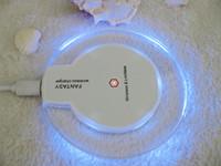al por mayor receptor de la almohadilla de qi-QI cargador de la energía de carga inalámbrica Pad + receptor Kit para el iPhone 5 / 5S / 6 / 6plus envío libre