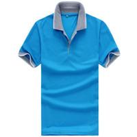 Cheap 2015 New Breathable Short Sleeve Men POLO Shirts Turn down Grey Collar Casual Mens POLO Shirt Multi-Colors Size XXL XXXL, A517