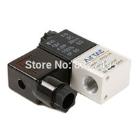 Wholesale 1pcs V Aluminum alloy solenoid valve for air water and oil order lt no track