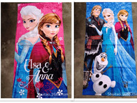 Wholesale 12 new arrive cm New Towel design Elsa Anna OLAF cotton towels bathroom children beach towel kids bath towel in stock now
