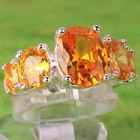 Cheap Citrine Silver Rings Best Crystal Wedding Ring