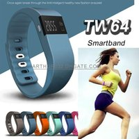 alarm clock bracelet - TW64 LED Smart Intelligent Bracelet Bluetooth Wristband Watch Bangle Waterproof Passometer Sleep Tracker Alarm Clock for Android IOS Phone