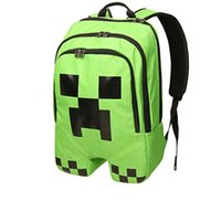 Wholesale Minecraft Creeper Backpacks Monster Cycling Bags Minion Backpacks For Children Kids Double Shoulder School Bags Boys Waterproof Bags