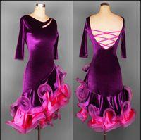 ballroom dresses china - Adult Child Custom Plus Size Latin Dresses Ballroom Dancing Dresses China Rumba Samba Cha cha Kaka Dance Dress For Lady Girls FN035