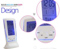 Wholesale new Desk Table Clocks Digital Alarm LED Calendar Thermometer glowing led lights clocks gifts Luminous muted lounger countdown timer
