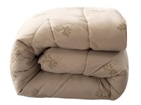 Wholesale twin queen king size Camelwool quilted Quilt Camel Hair Fiber Comforter Duvet Blanket for winter
