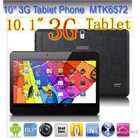 Cheap DHL 20PCS 2G 3G Phone call Tablet pc 10 Inch MTK6572 Dual SIM Card Dual Core Android 4.2 IPS 1024*600 1GB RAM 8GB ROM GPS WIFI Bluetooth OTG