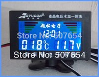 Wholesale High quality inch LCD digital car Gauge auto meter for many car Four in One Voltage water temperature Time USB Charge