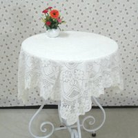 lace tablecloth - Lace Tablecloth Slip resistant White Table Cover for Wedding Party Multi purpose Table Cloth Home Decor JM0114 smileseller
