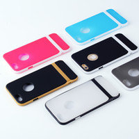Wholesale For iphone s case Hybrid in Gold Rock Hard Bumper cases Dual color TPU PC back cover skin for iphone s inch iphone6s iphone6