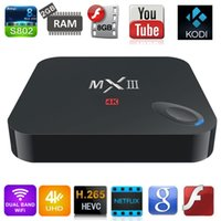 Cheap Quad Core Android TV Box Smart TV Best Included 1920X1080 MXIII Amlogic S802