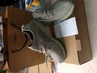 Wholesale With YEEZY BAG RECEIPT Drop Shipping Yeezy Boost TAN Kanye Milan West Yeezy Boost Size US5 With Box
