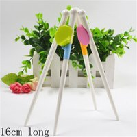 automatic chopsticks - 5pcs cm Children leaning chopsticks baby automatic feeding brain training chopsticks pink and green joint