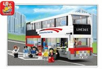 Wholesale Sluban set Children DIY Luxury City Bus Educational Toy Building Block Set B0335