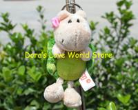 Gros-5 Pcs / lot Fleur Tortoise Peluche Pendentif, Keychain / porte-clés en peluche jouet cadeau Livraison gratuite