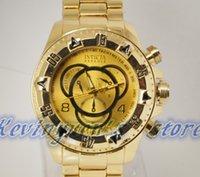 Wholesale 2014 Top Luxury Invicta Quartz Watch Male Business Wristwatch Clock Masculino Relogio INVICTA Watches Men Reloj INVICTA Date Chronograph
