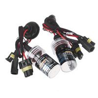 Wholesale 2pcs H11 W K HID Xenon H11 Car Kit Replacement Bulb Lamps Light Conversion Head Lamp Light Auto Xenon Lights