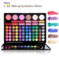 glitter kit - Professional Colors Eyeshadow Combination Pallet Eye Shadow Palette Cosmetic Makeup Kit Set with Blush Highlighters and Liner Shades