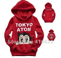 atom hoodie - Retail New arrival baby gril ATOM clothing set children s cloth boy girls red Hoodie for autumn and winter