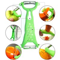 Wholesale 1 PC Green Kitchen Cooking Tools Gadgets Helper Vegetable Fruit Peeler Parer Cutter Slicer ToolsFit For Kitchen