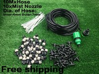 Wholesale 10m Mist Nozzle Outdoor Garden Misting Cooling System Plastic Mist Nozzle Sprinklers