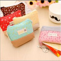baby gift card - 3000pcs CCA3220 High Quality Fresh Coin Purse Lovely Kawaii Cloth Women Handbag Baby Floral Candy Wallet Multicolor Purse Kid Christmas Gift