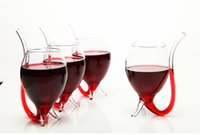 big drinking glass - Pieces Crystal Night Big Size Wine Glass With Build in Straw Devil Drinking Cup oz