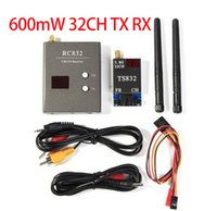 Wholesale 2015 Boscam FPV G Ghz mW Channels Wireless A V transmitter and receiver TS832 RC832 Tx Rx Set for aircraft KM
