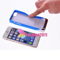 Wholesale 2200mAh TPU Plastic Silicon Frame Case Backup Battery Charger Emergency Power Case Bank Cover for iPhone S Compatible IOS