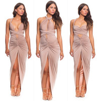sexy night clothes - Sexy Women Ladies Long Backless Night Out Dress Woman Slim Style Party Dress Summer Clothes Strapless Halter Style