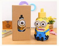 stainless steel water bottle - 2015 Despicable Me Minions Water Bottles Vacuum Cup one eye two eyes Stainless Steel Water Bottle Shape Christmas Gift J123005