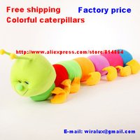 big fee - Factory price Fee shipping cm big Colorful caterpillars millennium bug doll plush toys large caterpillar hold pillow doll