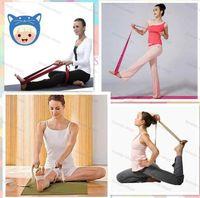 Wholesale New Promotion Retail Cotton Yoga Strap Stretch Belt Gym Exercise Webbing Fitness Workout Rope Betls Straps Professional yoga stretch belt