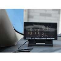auto compass thermometer - Car Auto Vehicle Digital Compass In Outdoor Temperature Thermometer Clock Alarm Time Day Calendar cigarette plug