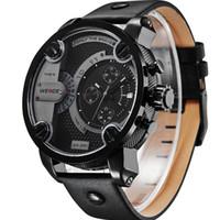 Wholesale New WEIDE Watches Men Military Quartz Sports Watch Luxury Brand Leather Strap Watch Wristwatches Water Resistant