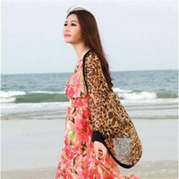 Cheap 2014 Sexy Fashion Leopard Design Blouses Women Full Sleeve Notched Chiffon Summer Autumn Long Shirts Tops Women Free Size