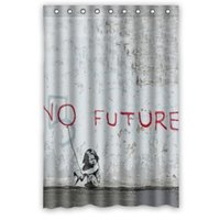 art top curtain - Personalize Waterproof Bathroom Shower Curtain x72 Banksy Girl Balloon Art Quote Bath Curtain top quality