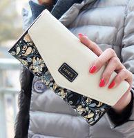 Wholesale HOT Women Ladies Long Flower Portfolio Female Envelope Purse Clutch Carteira Feminina Zip Hasp Wallets ID Card Holder Handbag
