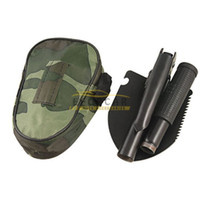 army shovel folding - Mini Multi function ARMY FOLDING SHOVEL SPADE STEEL PICK AXE CAMPING TOOL SMALL GARDEN DIGGING