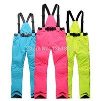 Wholesale Windproof waterproof Outdoor Men And Women Genuine Warmth Strap Ski Snowboard Pants Color Size XS XXL