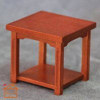 Wholesale 1 DIY doll house mini table handmade wood furniture accessories coffee table small pocket tables mini living room